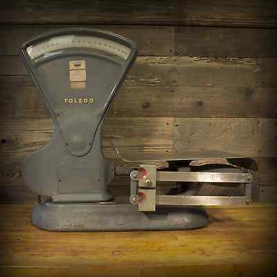 Vintage Industrial Toledo Art Steel 3180 Scale Kitchen 40 Lb Grocery Fruit Candy