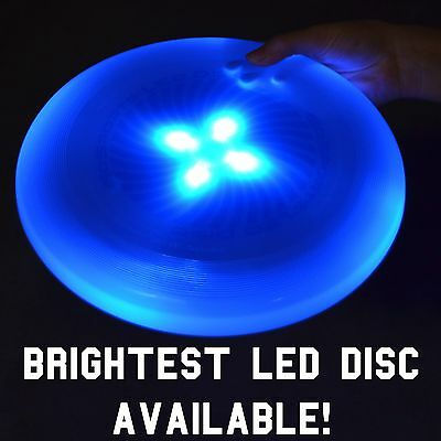 (Blue) GoSports LED Flying Light Up Disc - The Best Ultimate Frisbee for Night