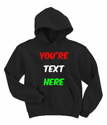 Personalised your design Hoody Customised Hoodie Gildan Childrens G