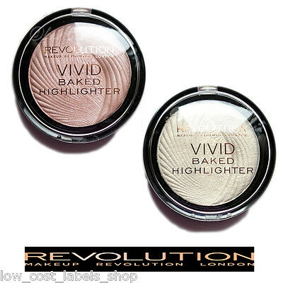Makeup Revolution Vivid Baked Golden Lights or Peach Lights Face Highlighter