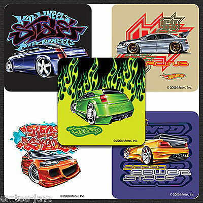 Hot Wheels Street Stickers x 5 - Birthday Favours - Hot Cars/Racing - Loot Bag