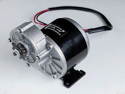 350 W 24 V DC electric motor f bicycle bike gokart scooter MY1016z3 gear reducti
