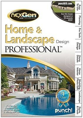 Punc! Home and Landscape Design Professional (For PC),  *New, Sealed*