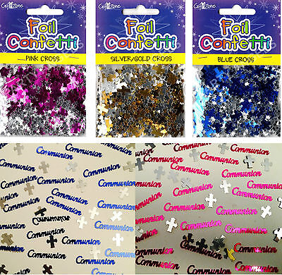 1 X First Holy Communion Confetti Pink Blue Gold Silver Table Decorations (Pa)