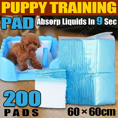 200pcs 60x60cm Puppy Pet Dog Indoor Cat Toilet Training Pads Absorbent Fast Ship