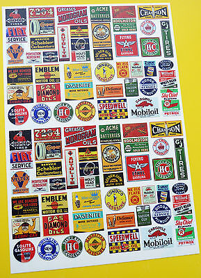 Model Railway OO GAUGE USA GAS OIL & MOTOR THEME SIGNS POSTERS stickers decals