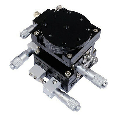 XYZΘ Axis Platform 60X60mm Precision Linear Stage Cross-roller Bearing New