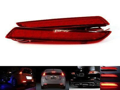 2x Honda Bumper Reflector LED Red Tail Brake Rear Stop Light CR-V CR-Z Jazz Fit
