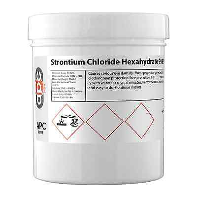 Strontium Chloride Hexahydrate 99.68% EP - 100g ** Dispatched Same Day **