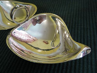 Sterling Silver SCIARROTTA Modernist Double Leaf 1C Bowl, N.E.H.C. TROPHY 1957