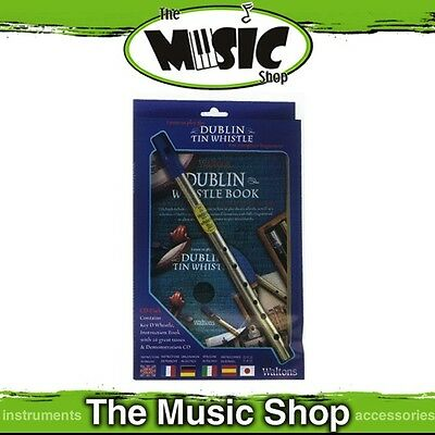 New Waltons Dublin Tin Whistle Pack with Instruction Book & CD - Learn to Play