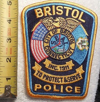 BRISTOL CONNECTICUT POLICE PATCH (HIGHWAY PATROL, POLICE, EMS, SHERIFF)