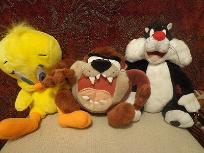 Set of 3 Looney Tunes Play by Play Tweety Bird, Sylvester & Tazmanian Devil