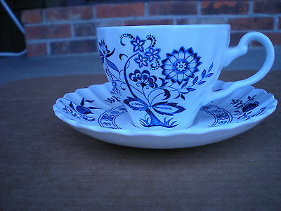 J&G Meakin BLUE NORDIC Cup and Saucer English Ironstone  Blue Onion