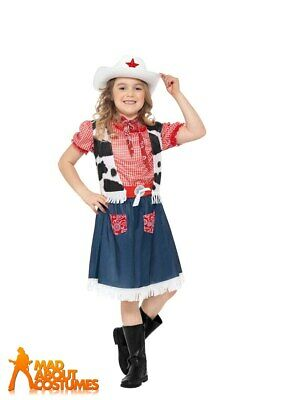 Girls Cowgirl Sweetie Costume Child Cowboy Fancy Dress Book Week Day Outfit Kids