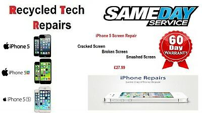 Apple iPhone 5 LCD Touch Screen Lens Digitizer Glass Repair Replacement Service