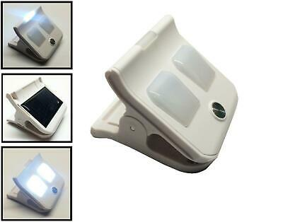 SOLAR POWERED CLIP ON LED LIGHTS camping garden caravan boat path motorhome