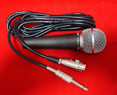 Pro DJ Studio Karaoke Handheld Wired Vocal Dynamic Microphone & Cable PDMIC58