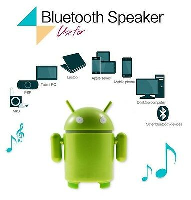 Bluetooth Android Robot Sound Box Mini Portable Wireless Speaker (WATCH VIDEO)