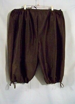 Twill Plus sized Drawstring Breeches Knee Pant Renaissance Pirate Colonial POTC