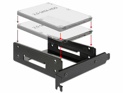 Delock Installation frame for 2 x 2.5″ HDD into a free PCI or PCI Express slot