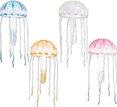 JELLYFISH - Aquarium Floating Decoration 10cm Ornament Fish Tank Pet dm Decor