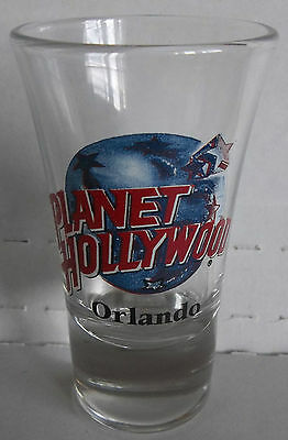 "PLANET HOLLYWOOD - ORLANDO (FL / FLORIDA) 3 1/2"" HIGH DOUBLE SHOT/SHOOTER GLASS"