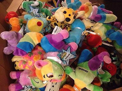 Mixed Lot Of 12 Random Neopets Keyquest Plushies w/ Sealed & Unused Codes