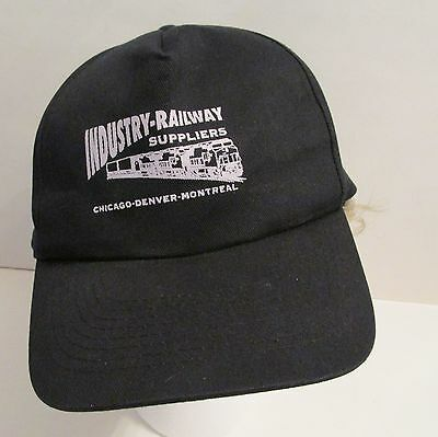 INDUSTRY RAILWAY SUPPLIERS CHICAGO- DENVER- MONTREAL RAILROAD HAT CAP