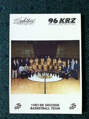 Shockers Wichita State University Basketball WSU Team Card 1987-88.