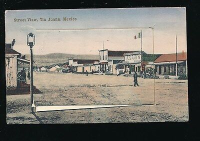Mexico TIA JUANA Street view Novelty Pull-out PPC 1914