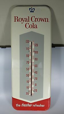 VINTAGE 1950s ROYAL CROWN COLA RC DONASCO S12 METAL ADVERTISING THERMOMETER/SIGN