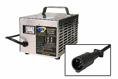 Club Car Golf Cart - 48 volt 17 Amp Battery Charger - 3 pin round Handle- No OBC