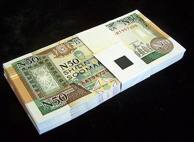 50 x SOMALIA #R2 1991 50 SHILLINGS UNC CURRENCY/BANKNOTE/ MONEY-1/2 BUNDLE
