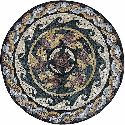 Wall Mural Medallion Marble Mosaic IN185
