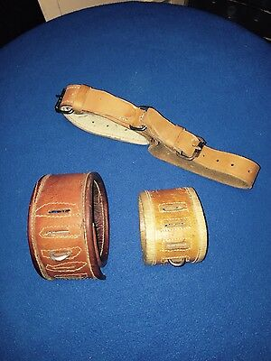 Antique vintage leather restraints