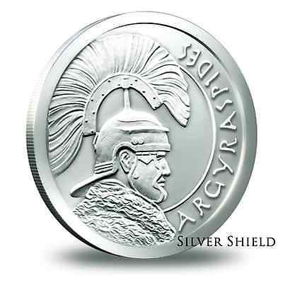 2014 Silver Shield Argyraspides 1/10 oz .999 Silver BU Round USA Bullion Coin
