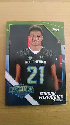 2015 Topps Under Armour All American RC Football Card MINKAH FITZPATRICK Alabama
