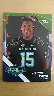 2015 Topps Under Armour All American RC Football Card DARON PAYNE Alabama