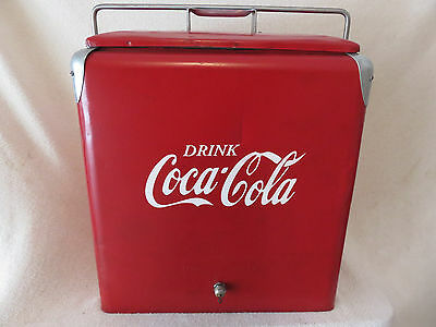 Vintage Progressive  Coca-Cola Large Family Picnic Cooler with Tray! Restored!