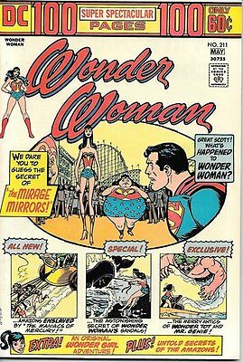 Wonder Woman Comic Book #211, DC Comics 1974 VERY FINE/NEAR MINT