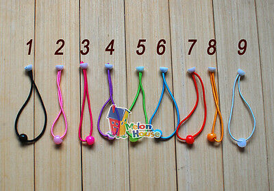 12pcs Quality Baby/Girl Hair Ties Ponytail Hold Elastics with Bead Great for DIY