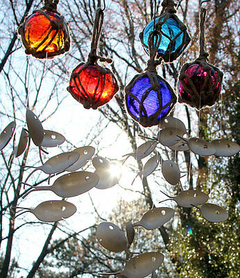 Fishing Float and Spoon Fish Wind Chime