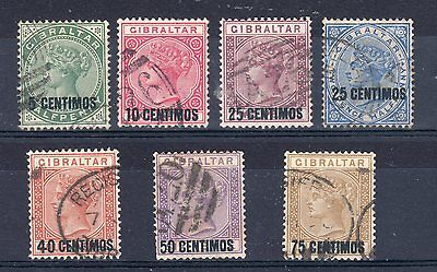 Gibraltar 1889 surcharge set to 75c FU CDS