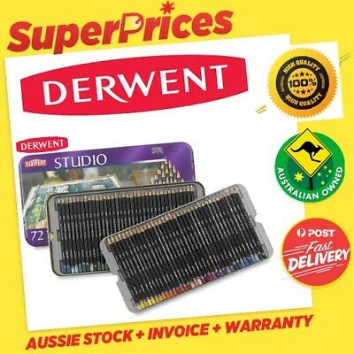Derwent◉Studio 12 24 36 72◉Fine Colour Pencils◉Tin Set◉Art◉Craft◉Drawing◉Project