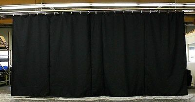 Black Stage Curtain/Backdrop/Partition, 11 H x 20 W, Non-FR