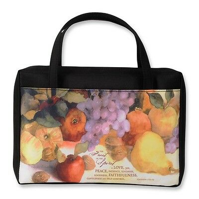 Fruit of the Spirit Microfiber Bible Cover - Judy Buswell - Large