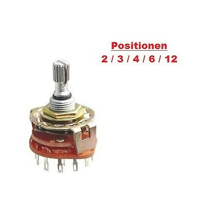 Stufenschalter Rotary Switch Drehschalter Step Switch Dreher 1-12 Stellungen