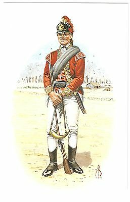 Light Infantry Man, 5th Regiment of Foot, American War of Independence Postcard