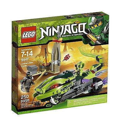 LEGO NINJAGO LASHA'S BITE CYCLE (9447) - RETIRED - NEW IN FACTORY SEALED BOX